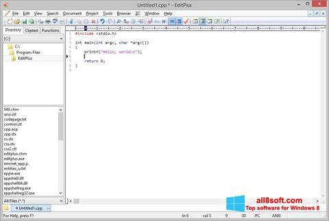 Képernyőkép EditPlus Windows 8
