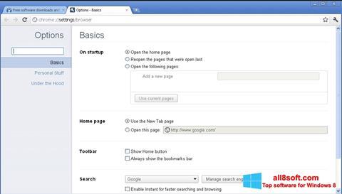 Képernyőkép Google Chrome Canary Windows 8