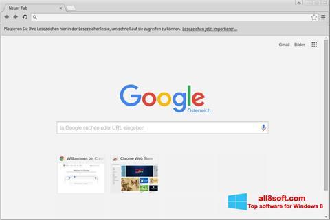 Képernyőkép Google Chrome Windows 8