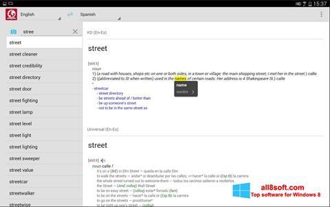 Képernyőkép ABBYY Lingvo Windows 8