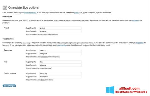 Képernyőkép QTranslate Windows 8