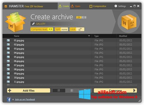Képernyőkép Hamster Free ZIP Archiver Windows 8