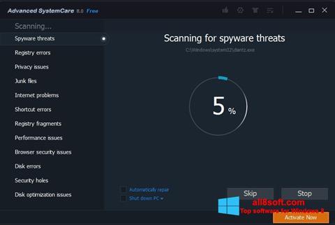 Képernyőkép Advanced SystemCare Pro Windows 8