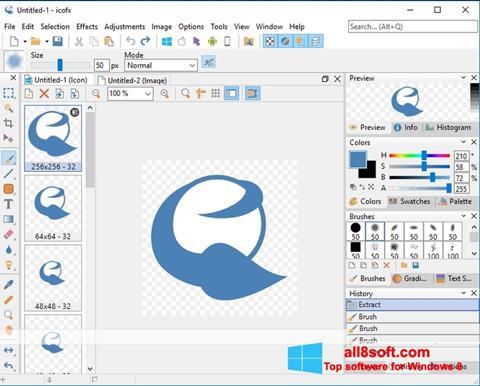 Képernyőkép IcoFX Windows 8