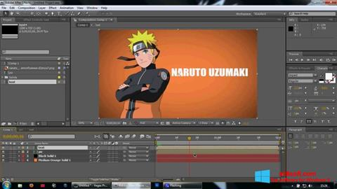Képernyőkép Adobe After Effects Windows 8