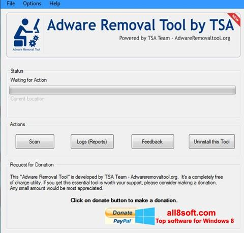 Képernyőkép Adware Removal Tool Windows 8