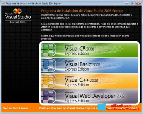 Képernyőkép Microsoft Visual Studio Windows 8