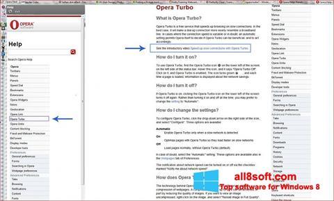 Képernyőkép Opera Turbo Windows 8