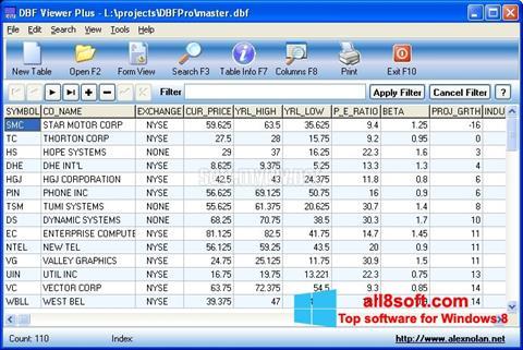 Képernyőkép DBF Viewer Windows 8