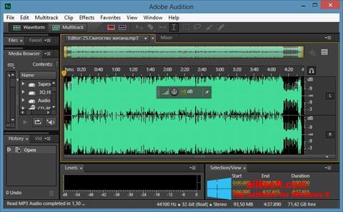 Képernyőkép Adobe Audition CC Windows 8