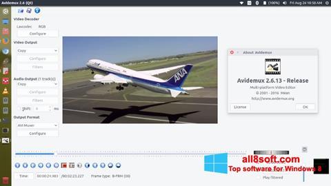Képernyőkép Avidemux Windows 8