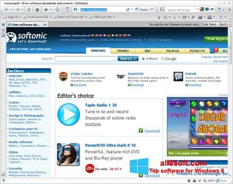 Képernyőkép Lunascape Windows 8