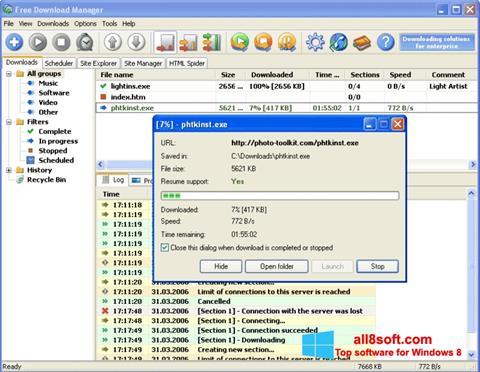 Képernyőkép Download Master Windows 8