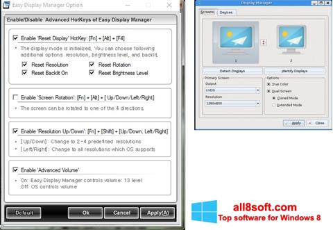 Képernyőkép Easy Display Manager Windows 8